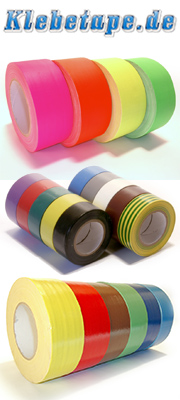 Neon-Gewebeklebeband, PVC-Isolierband, farbiges Stagetape, Tanzbodenklebeband und weitere Klebetechnik für Messe, Bühne und Show finden Sie auf Klebetape.de